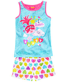 DreamWorks Trolls 2-Pc. Graphic-Print Pajama Set, Little & Big Girls