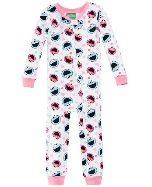 Sesame Street Graphic-Print Cotton Pajamas, Toddler Girls