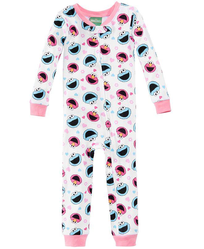 Sesame Street Graphic-Print Cotton Pajamas, Toddler Girls