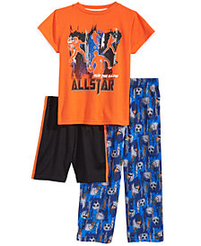 Max & Olivia 3-Pc. Pajama Set, Little & Big Boys