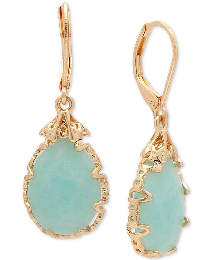 lonna & lilly - Gold-Tone Imitation Pearl Drop Earrings