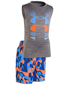 Under Armour 2-Pc. Graphic-Print Tank Top & Printed Shorts Set, Little Boys