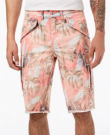 GUESS Men's Palm Tree Cargo Shorts