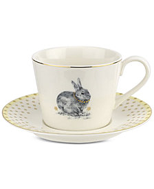 Spode Meadow Lane Teacup & Saucer Set, Yellow