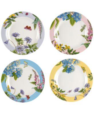 Botanic Garden Terrace Assorted Plates, Set of 4
