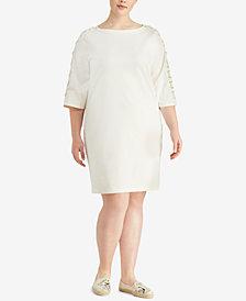 Lauren Ralph Lauren Plus Size Cotton Dress