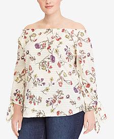 Lauren Ralph Lauren Plus Size 3/4-Sleeve Cotton Jersey Top