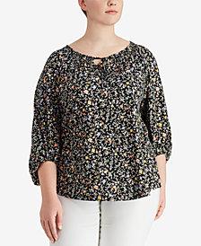 Lauren Ralph Lauren Plus Size Cotton Jersey Top