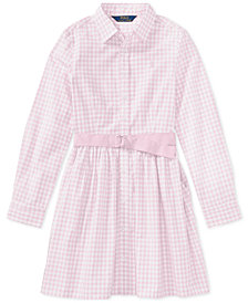Polo Ralph Lauren Gingham Shirtdress, Big Girls