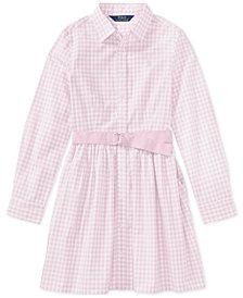 Polo Ralph Lauren Gingham Shirtdress, Big Girls