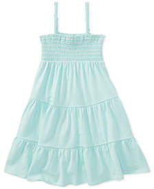 Polo Ralph Lauren Smocked-Bodice Dress, Little Girls