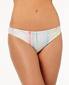 Bar III Watercolor Stripe Cheeky Hipster Bikini Bottoms, Created for Macy's
