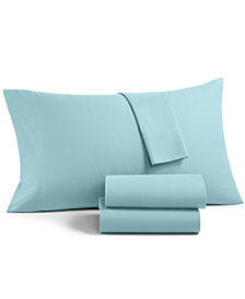 Martha Stewart Essentials Solid Microfiber 3-Pc. Twin Sheet Set, Created for Macy's