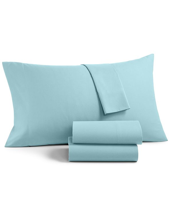 Martha Stewart Collection Solid Microfiber 3-Pc. Twin XL Sheet Set, Created for Macy's