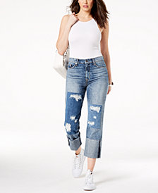 Hudson Jeans Zooey Cropped Patched Cotton Jeans