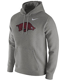 Nike Men's Arkansas Razorbacks Cotton Club Fleece Hooded Sweatshirt