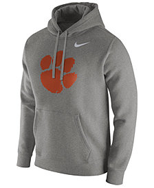 Nike Men's Clemson Tigers Cotton Club Fleece Hooded Sweatshirt