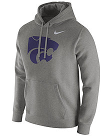 Nike Men's Kansas State Wildcats Cotton Club Fleece Hooded Sweatshirt