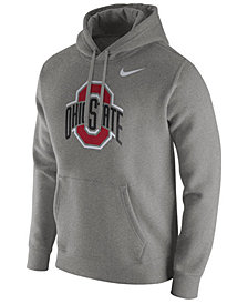Nike Men's Ohio State Buckeyes Cotton Club Fleece Hooded Sweatshirt