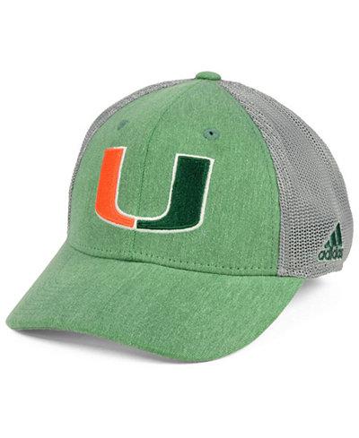 adidas Miami Hurricanes Heathered Team Flex Cap