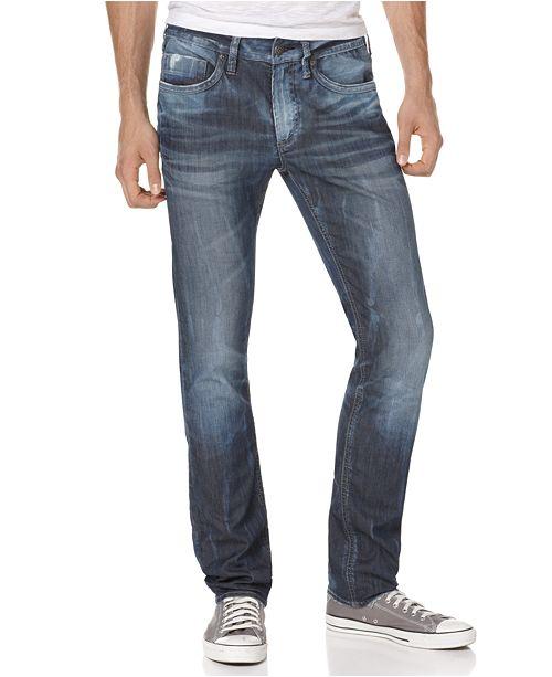 33bf632f ... Buffalo David Bitton Men's Evan Slim Straight Fit Stretch Jeans ...