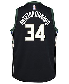Nike Giannis Antetokounmpo Milwaukee Bucks Statement Swingman Jersey, Big Boys (8-20)