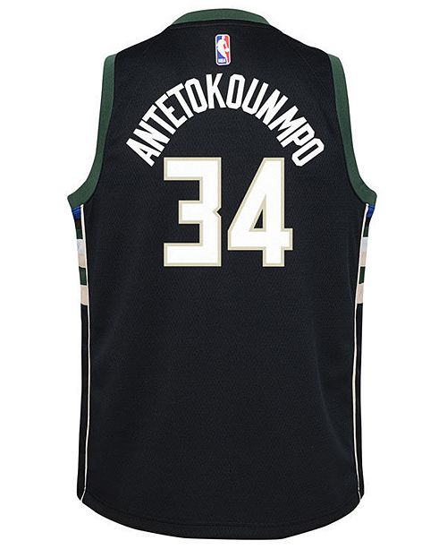 Nike Giannis Antetokounmpo Milwaukee Bucks Statement Swingman Jersey ... 698fff257