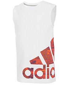 adidas Graphic-Print Cotton Tank Top, Little Boys