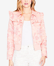 RACHEL Rachel Roy Printed Ruffle-Trim Bomber Jacket, Created for Macy's