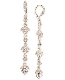 Crystal Linear Drop Earrings