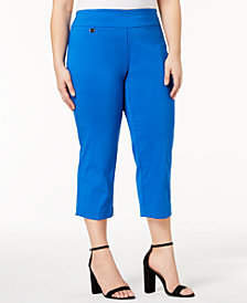 Alfani Plus Size Pull-On Capri Pants, Created for Macy's