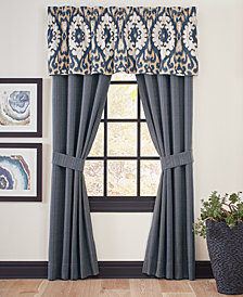 "Croscill Kayden 72"" x 20"" Medallion Jacquard Tailored Window Valance"