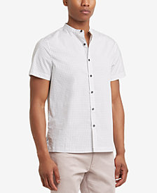 Kenneth Cole New York Men's Triangle-Print Band-Collar Shirt