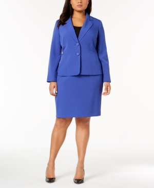 Le Suit Plus Size Two-Button...