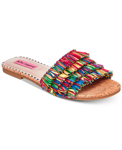 Betsey Johnson Venus Slide Flat Sandals