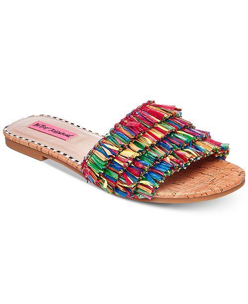 091641105c62 Betsey Johnson Venus Slide Flat Sandals   Reviews - Sandals   Flip ...