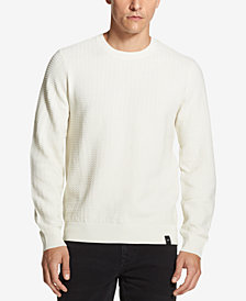 DKNY Men's Textured Crew-Neck Sweater