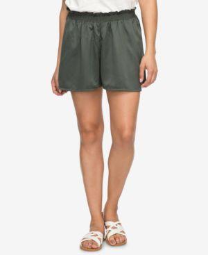 Juniors' Soft Ruffled Shorts in Thyme