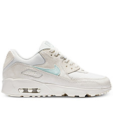Nike Big Girls' Air Max 90 Mesh Running Sneakers from Finish Line