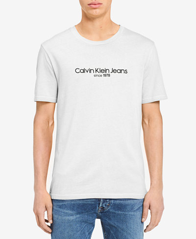 Calvin Klein Jeans Men's Old School Logo-Print T-Shirt