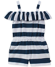 Tommy Hilfiger Rugby Stripe Romper, Big Girls