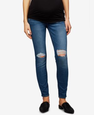 Image of 7 For All Mankind Maternity Ankle Skinny Jeans
