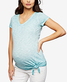 A Pea In The Pod Maternity Tie-Front T-Shirt
