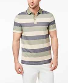 Tasso Elba Men's Striped Supima® Blend Stripe Polo, Created for Macy's