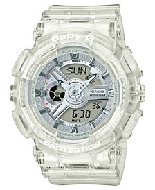 Baby-G Women's Analog-Digital Clear Resin Strap Watch 43.2mm