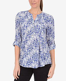 NY Collection Pintucked Blouse
