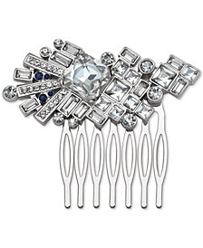Jewel Badgley Mischka Silver-Tone Crystal & Stone Hair Comb