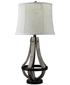 AHS Lighting Sonoma Wood Table Lamp