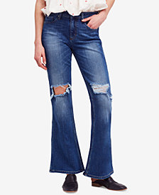 Free People Authentic Ripped Flare Jeans