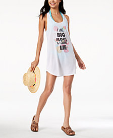 Miken Juniors' Graphic Tank Dress Cover-Up